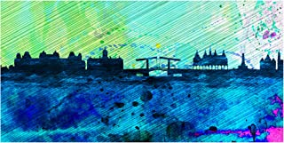 Trademark Fine Art Amsterdam City Skyline by NAXART, 24x47, Multiple