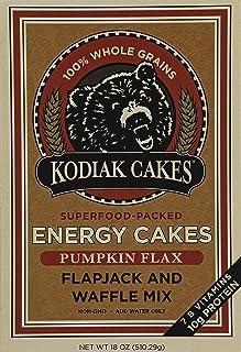 Kodiak Cakes Pumpkin Flax Energy Cakes superfood Protein Packed All Natural, Non GMO Protein Pancake, Flapjack & Waffle Mi...