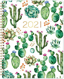 """2021 Planner - 2021 Weekly & Monthly Planner, 8"""" x 10"""", January 2021- December 2021, Floral Cover with Twin-Wire Binding"""