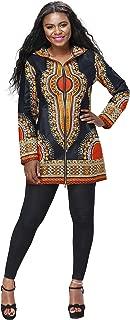 Shenbolen Women African Fashion Clothes Long Sleeve Coat Ankara Print Dashiki Long Jacket