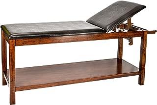 AdirMed Mahogany Wooden Exam Table with full shelf.