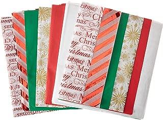 Christmas Designs Tissue Paper on Kraft Paper (Christmas Tissue Paper with Foil Accents, 102 Sheet Pack)