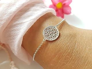 Taupe //// Geschenkideen Freundschaftsarmband Symbol Schmuck SCHOSCHON Damen Armband Flamingo Rauchquarz 925 Silber vergoldet