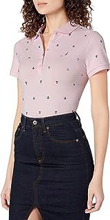 NAUTICA Womens 9302ZK Anchor Short Sleeve Breathable Stretch Cotton Polo Shirt Short Sleeve Polo Shirt