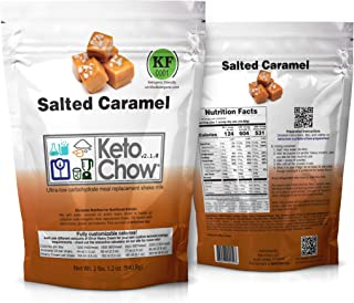 Keto Chow Keto Meal Replacement Shake: delicious, easy meals for keto diet, complete keto meal, on the run keto meal (Salted Caramel, 21 Meals)