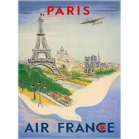 Aviation Travel POSTER.Stylish Graphics.Paris.France.Art Wall Decor.1366