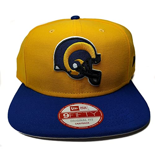 New Era Los Angeles Rams 9Fifty Vintage Throwback 2 Tone Logo Adjustable Snapback  Hat NFL dfec3f630
