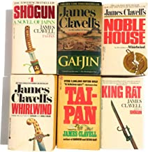 Complete Asian Saga 6 Novel Set by James Clavell includes Shogun, Gai-Jin, King Rat, Noble House, Whirlwind, Tai Pan