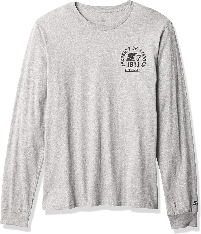 Starter Men's Long San Antonio Mall Sleeve Property of T-Shirt Chest Logo Great interest