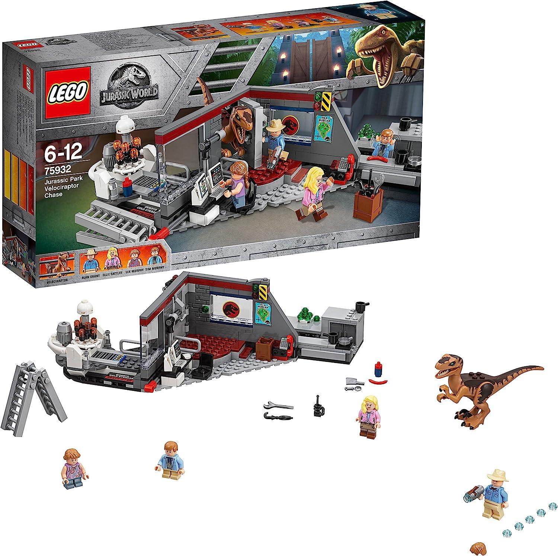 LEGO lowest price Jurassic World Hunting The 100% quality warranty Velociraptor Set 75932 Dinosaur
