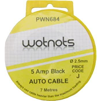 8A WOT-NOTS 1 Core Cable Black PWN687 6m