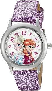 ساعة ديزني انفينيتي كيدز W002506 فروزن إلسا وآنا عرض تناظرية كوارتز ارجوانية