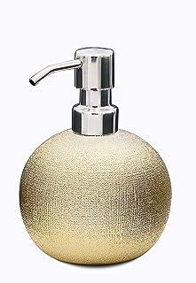 Ridder Lucida Dispensador de jabón líquido, cerámica, Dorado, ca. 10,6 x 10,6 x 13,9 cm