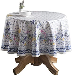 Maison d' Hermine Faïence 100% Cotton Tablecloth 69 Inch Round