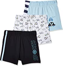 Amazon Brand - Jam & Honey Baby Boy's Cotton Shorts (Pack of 3)