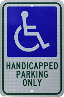 handicap only sign