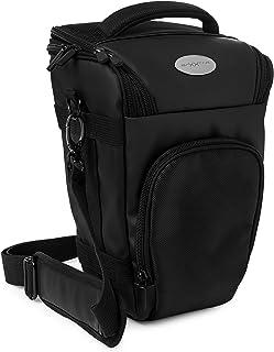 Baxxtar Pro Novo II (L) SLR - Funda para cámara Reflex (Full Size) - Color Negro con la Correa de Hombro Correa de Cintura Adicional y trabilla para el cinturón