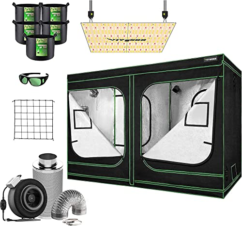 """new arrival VIVOSUN 96""""x48""""x80"""" Mylar online Hydroponic Grow Tent Complete Kit with 8 Inch Inline Fan Combo Ventilation System, VS4000 LED Grow Light, new arrival Glasses, Grow Bags, Trellis Netting online sale"""