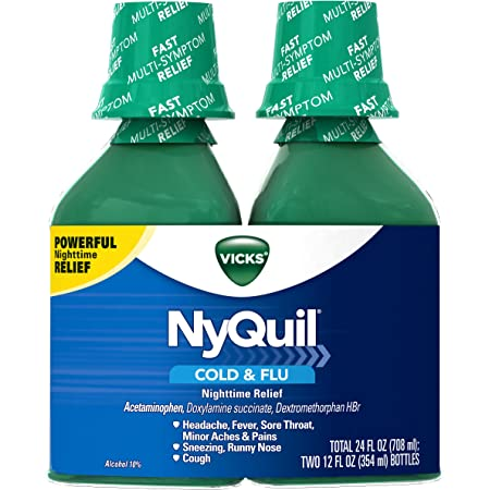 Bottle of drink nyquil half you what if a happens I drank