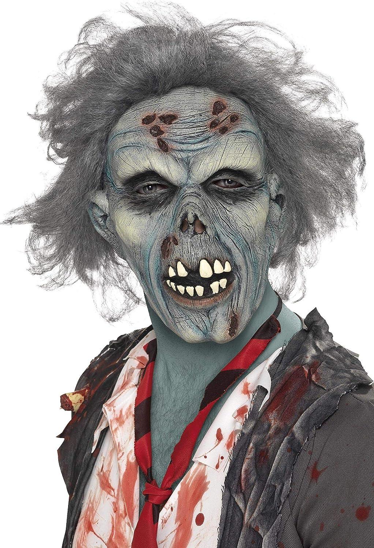 Boys Zombie Halloween Fancy Dress Costume Wig Kids Walking Dead White Walker