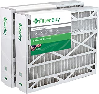 FilterBuy 17.5x27x5 Trane Perfect Fit BAYFTFR17M Compatible Pleated AC Furnace Air Filters (Pack of 2). AFB Silver MERV 8.
