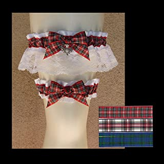 scottish tartan wedding garters
