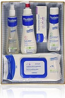 Mustela Bébé - Canastilla azul - Agua de colonia + Hydra Bébé + Vitamin barrier cream + Dermo Nettoyant + Toallitas - 1 pa...