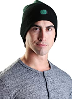 Marvel Hulk Dip Dyed Slouch Knit Men's Winter Hat - ST