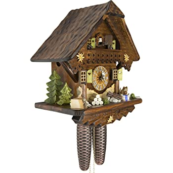 Cuckoo-Palace German Cuckoo Clock - Summer Meadow Chalet with 8-Day-Movement - 13 1/3 inches Height