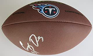 Corey Davis, Tennessee Titans, Signed, Autographed, NFL Logo Football, a COA with the Proof Photo of Corey Signing Will Be Included