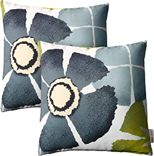 Foreside Home Garden Fipl09254 Blue Decorative Striped Hand Woven 20x20 Outdoor Throw Pillow W Pulled Yarn Accent Patio Seating Kolenik Decorative Pillows