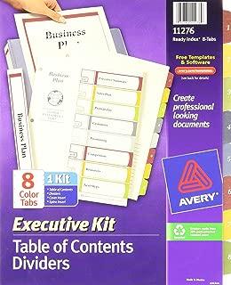 2 Sets of Avery Index Maker Translucent Dividers 8 Tabs per Set 11453