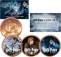 Harry Potter DEATHLY HALLOWS Colorized British Halfpenny 3-Coin Set (Set 1 of 6)