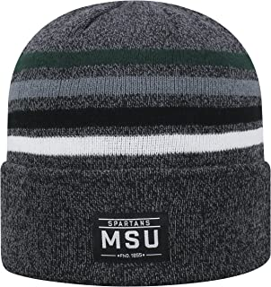 Top of the World Michigan State Spartans Official NCAA Cuffed Knit Upland Stocking Stretch Sock Hat Cap Beanie 464961