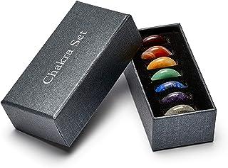 Set Premium Chakra avec les 7 pierres précieuses les plus importantes   Set de pierres de guérison composé de pierres préc...