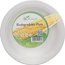 "Biogreen Biogreen Disposable Plate, Milky White, 7"", 20, BD-7BP20"
