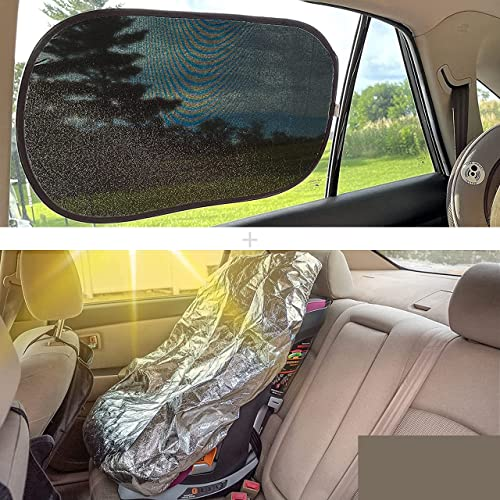 discount EcoNour Gift Bundle | Car Shades for Side Windows 20x12 Inches (2 Pack) high quality + Baby Seat Sunshade Cover | Total Sun Glare and Heat online sale Protection | Keep Your Baby or Child Car Seat at a Cool Temperature online sale