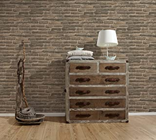 A.S. Création Non-Woven Wallpaper Decoworld 2 10.05 m x 0.53 m Beige Gray Made in Germany 307472 30747-2