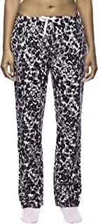 Womens Pajama Pants - 100% Cotton Flannel Lounge Pants with Pockets & Drawstring