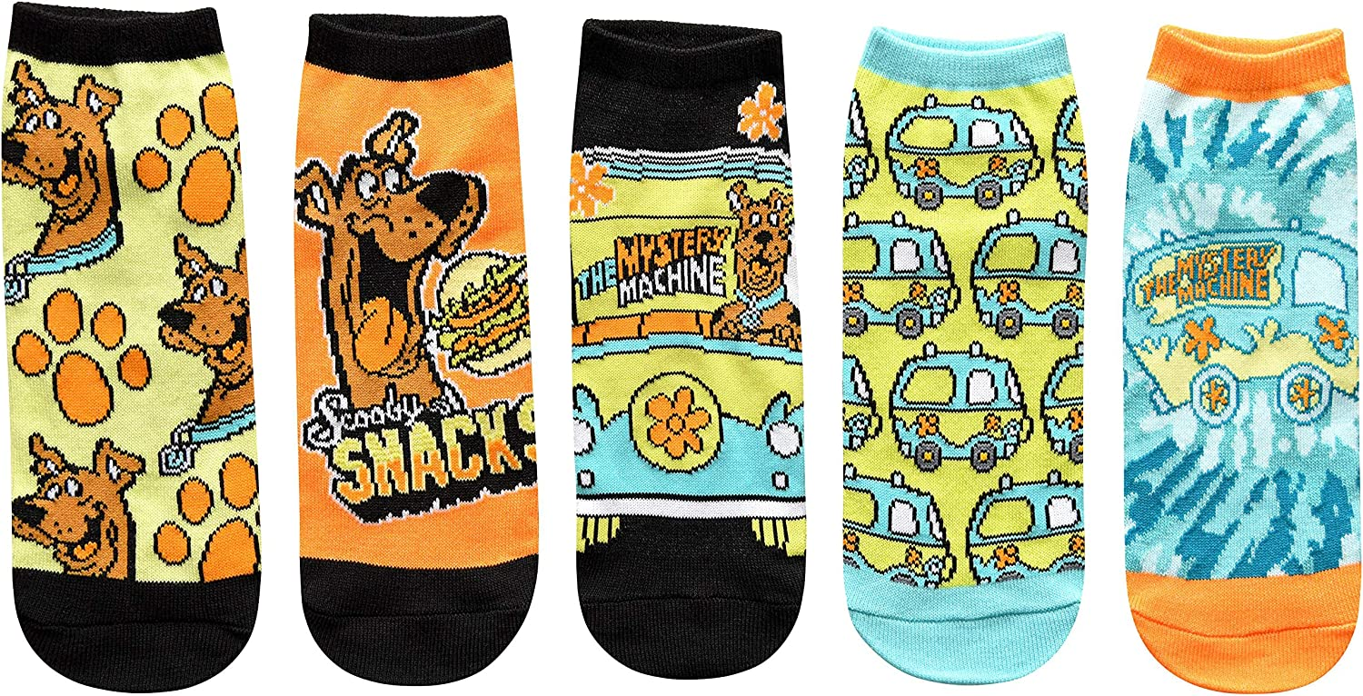 Hyp Scooby Lowest price challenge Doo Mystery Machine Juniors Pack Womens 5 Ankle At the price of surprise Socks
