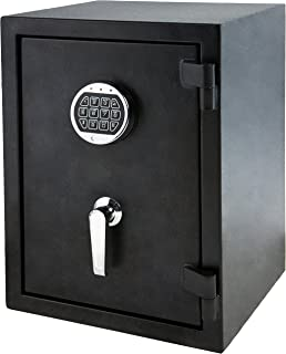 AmazonBasics Fire Resistant Box Safe with Keypad, 1.24 Cubic Feet