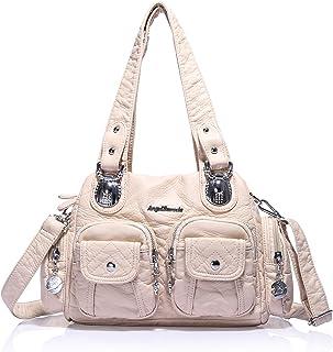 Angel Barcelo Mini Shoulder Bag for Women Messenger Handbags Cross Body Multi Zipper Pockets Bag