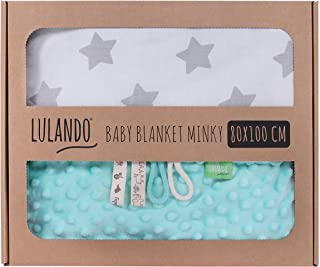 Grey Diamond LULANDO Babydecke Kuscheldecke Krabbeldecke Baumwolle 80x100 Mint