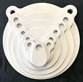 AR500 Steel Targets - Gongs - Silhouettes and More for Pistols and Rifles - 3/8 1/2