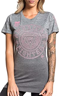 Northbridge Short Sleeve Sport Graphic Fashion Linear T-Shirt Top by Affliction
