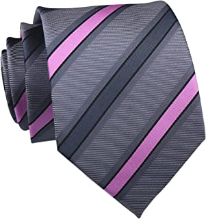 "Elfeves Men's Striped Silk Ties Pattern College Business Formal Designer Neckties 3"""