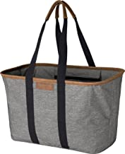 CleverMade 30L SnapBasket LUXE - Reusable Collapsible Durable Grocery Shopping Bag - Heavy Duty Large Structured Tote, Hea...