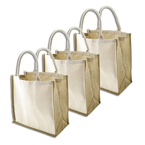 Simple Ecology Organic Canvas   Jute Reusable X-Large Tote   Grocery  Shopping Bag - 3340c7a8d32cd