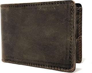 Full Grain Minimalist Leather Wallet For Men - by Anthology Gear (Whiskey Brown)