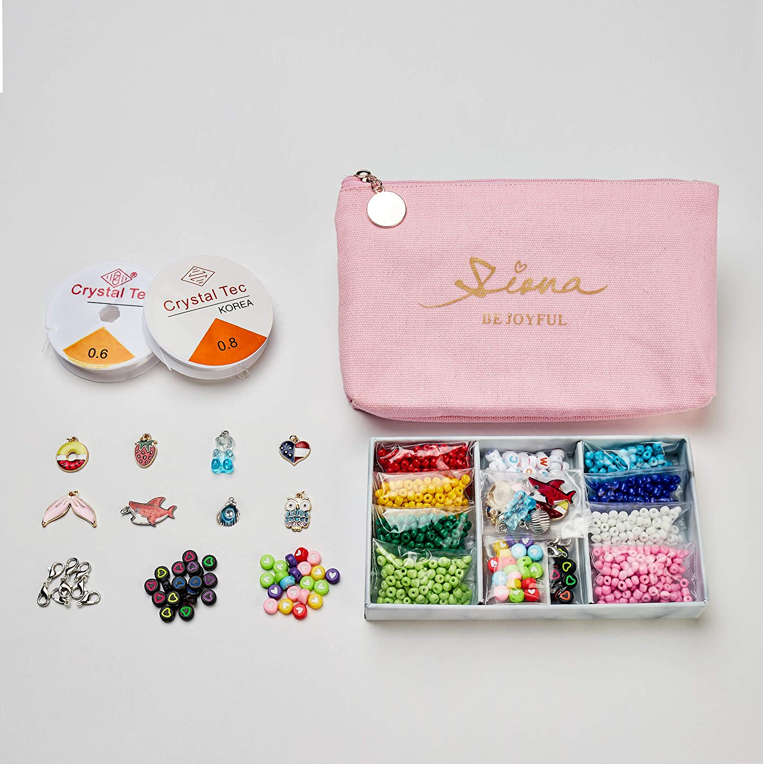 SIONA Clearance SALE Limited time DIY Bracelet Outlet sale feature Making kit Beading Supply Kit for wi Starters